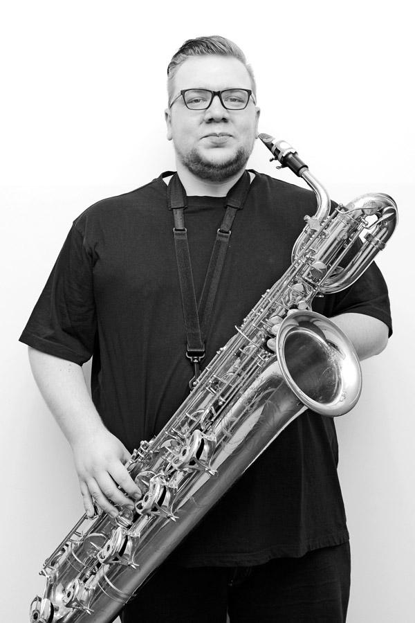 """Christian Schoo aus Nordhorn Bariton-Saxophon war 2015 von Anfang an dabei und weiß: """"Ich bin bei den Berrytones zuhause."""""""