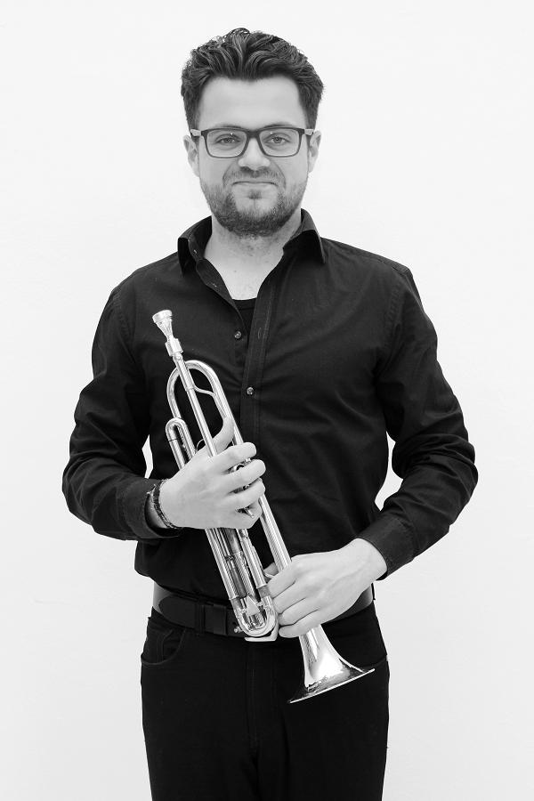 """Benedikt Ricken aus Münster Trompete ist seit 2016 dabei und freut sich: """"Hier kann ich meinem Fortissimo auch mal freien Lauf lassen."""""""