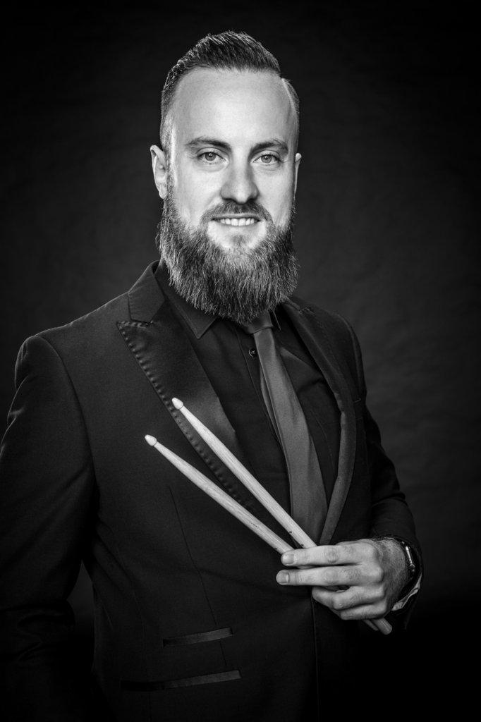 """Bart Hopster aus Lingen Drums war 2015 von Anfang an dabei, und denkt: """"Wenn ich selber höre, wie wir gemeinsam Musik machen, finde ich es einfach mega."""""""