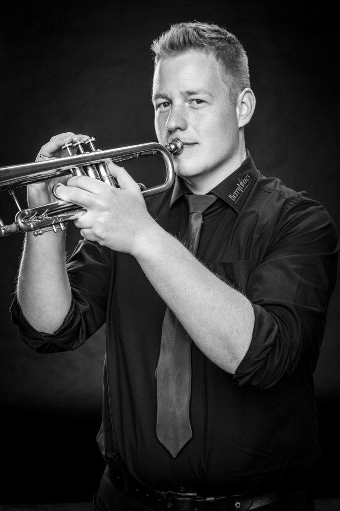 """René Konert aus Rheine-Mesum Trompete bzw. Flügelhorn ist seit 2015 dabei und meint: """"Mein Leben ist Musik."""""""