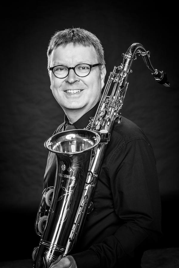 """Lars Voigt aus Nordhorn Saxophon war schon bei der Gründung 2015 dabei und findet: """"Wir Berrytones schließen eine musikalische Lücke."""""""