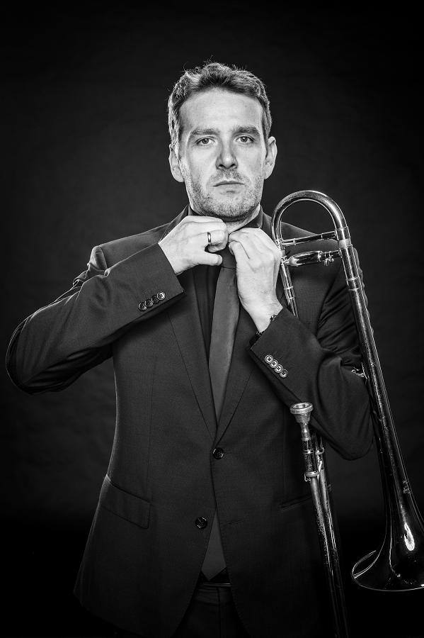 """Peter Scholz aus Lingen Posaune ist seit 2016 dabei und sagt: """"Mit vier Posaunen in einer Bigband zu spielen macht mir Spaß."""""""