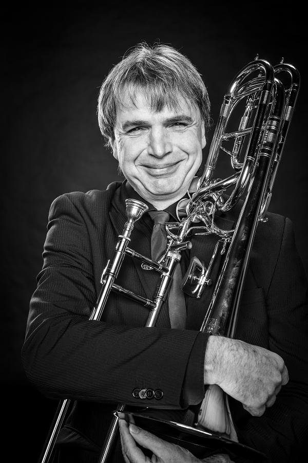 """Werner Zwick aus Neugnadenfeld Bass-Posaune ist seit 2015 dabei und findet: """"Bei den Berrytones mitzuspielen ist eine schöne Herausforderung."""""""